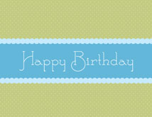 Blue Ribbon Wishes Happy Birthday Cards